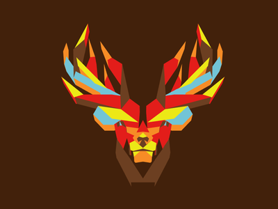 Fire Stag vote derby woot tshirt tee t-shirt polygons fall autumn stag