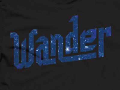 Wander vote derby woot tshirt tee t-shirt explore wander typography lettering space
