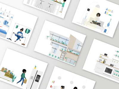 Connected's Smart Home Report Illustrations | House & Home design flat design editorial illustration illustration graphic  design branding