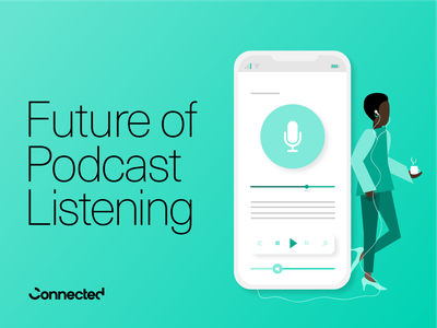 Future of Podcast Listening Report typography layout design editorial design editorial illustration illustration graphic  design branding