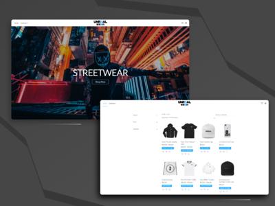 Unr3al - ecommerce website