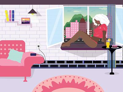 Summer 2020 graphicdesign 2020 summer girl illustration