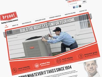 Bryant Website web design uiux repair air conditioner product service