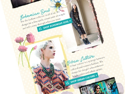 Hearts Email Campaign web design branding fashion clothing jewelry email