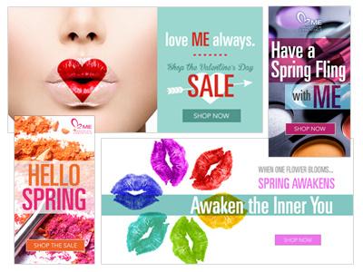 Makeover Essentials Banners design web banners ads makeup cosmetics beauty women