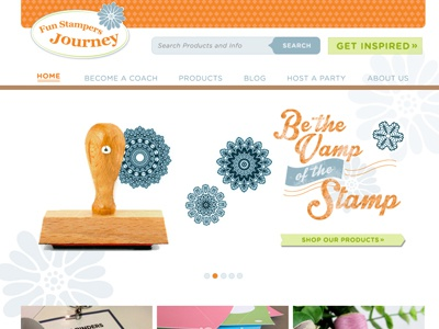 Fun Stampers Journey Website design web ecommerce product stamp craft ux