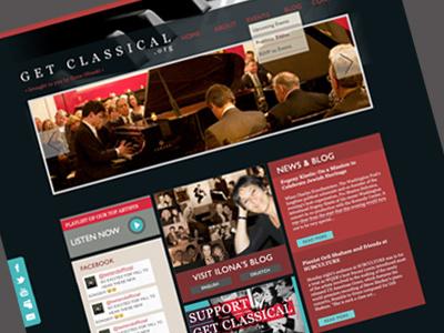 GetClassical.org Website design web event music blog classical social integration
