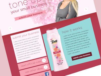 Tone Promotional Microsite design web promotion microsite beauty b2b social female