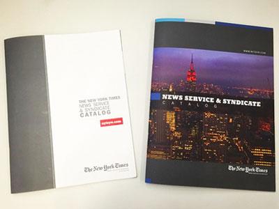 New York Times News Service Catalog collateral marketing news b2b catalog print