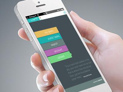 Task Index app social business organizer planner uiux app web design