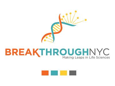 Breakthrough Logo color life science logo branding design