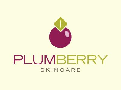 Plumberry Skincare Logo 4 logo branding fruit spa skin