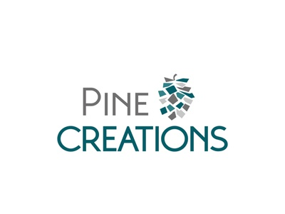 pine creations logo logo design concept vector logodesign logotype logo design illustration typography logo design branding