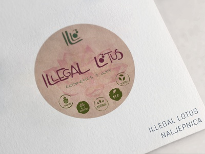illegal lotus labes labels label packaging branding brand label