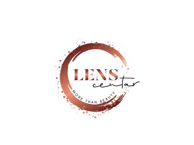 lens centar logo logo design concept logodesign logotype logo design illustration logo typography design branding