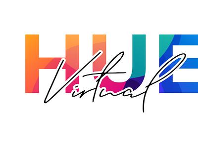 Logo design - Virtual Hue logotype logo design illustration logo typography branding