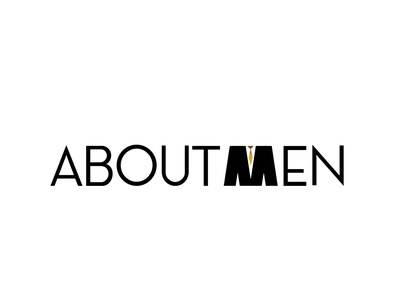 Aboutmen portal logo logotype logo design illustration logo typography branding