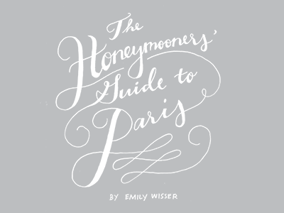 honeymooners' guide to paris, title page