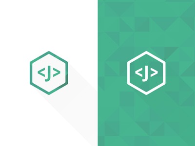 """Jens"" Identity Icon programmer programming icon logo identity name type"