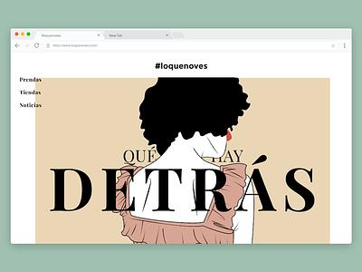 #loquenoves graphic design design graphic textil illustrator illustration web campaign ad fashion