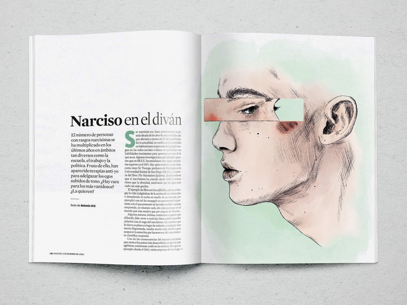 Narciso magazine illustration design editorial book graphic design illustration