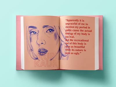 Go with the flow graphic menstruation periods art zine graphic design illustration book design editorial