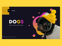Dogs Homepage Concept