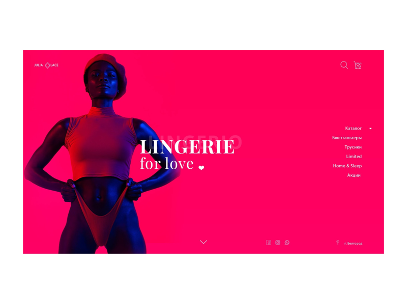 Lingerie Homepage Concept store web website grid lingerie concept landing homepage