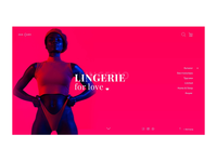 Lingerie Homepage Concept