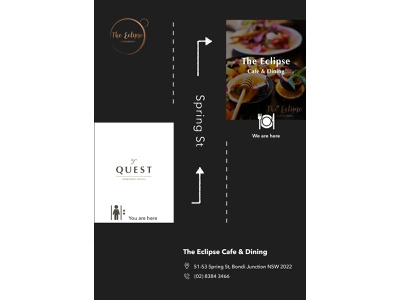 The Eclipse Cafe & Dining Signage design