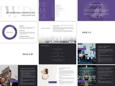 Design Proposal for IWD Dashboard presentation design