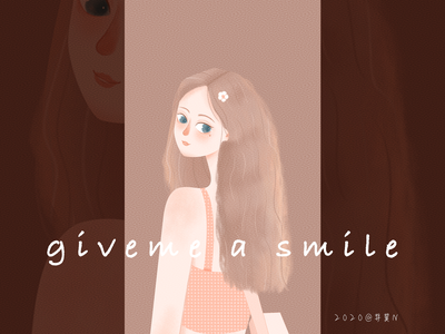 give me a smile haha~ illustration
