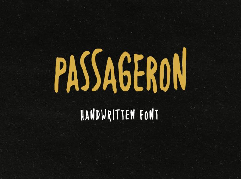 Passageron Font hand lettering typography typeface font design display font packaging poster flyer handwritten font handwriting font handmade creative market font