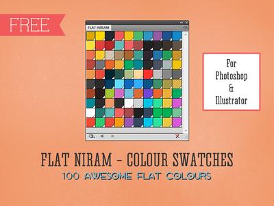 Flat Niram - Colour Swatches Library for Illustrator & Photoshop