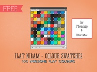Flat Niram - Colour Swatches Library for Illustrator & Photoshop