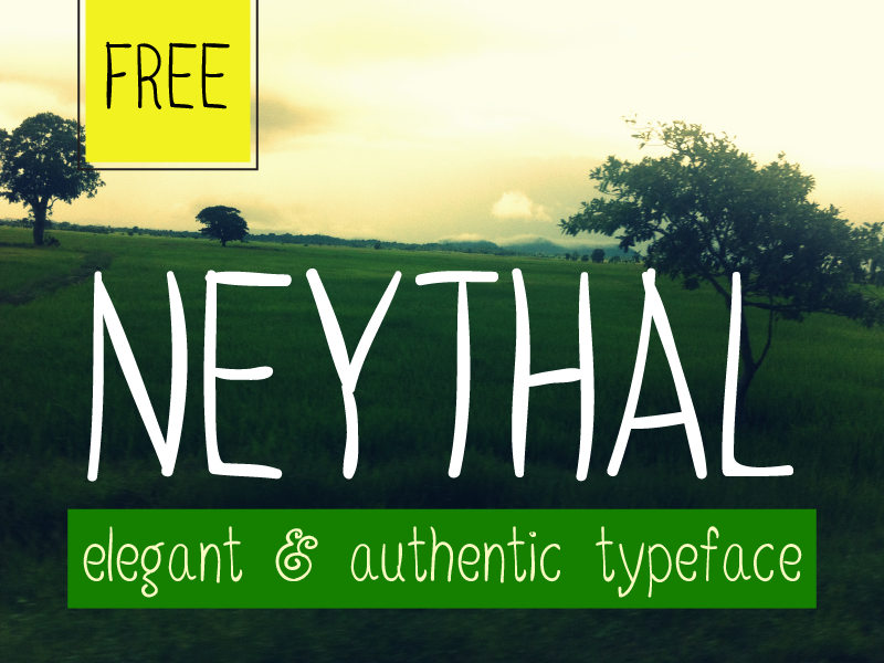 Neythal Free Font typeface font handmade display elegant type design typography free freebie handwriting handdrawn