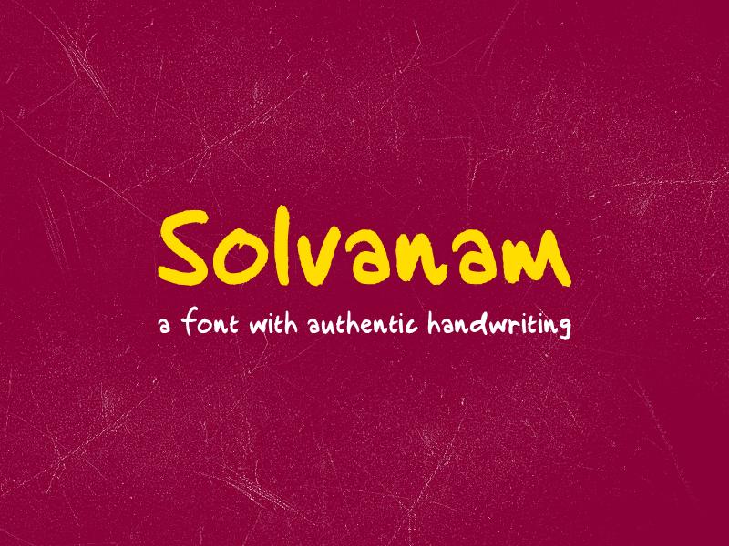 Solvanam Font font typeface handwriting lettering comic elegant simple sans serif invitation wedding poster display