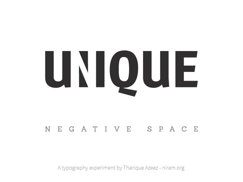 Unique Negative Space negative space typography sign logo experiment typeface