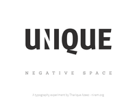 Unique Negative Space