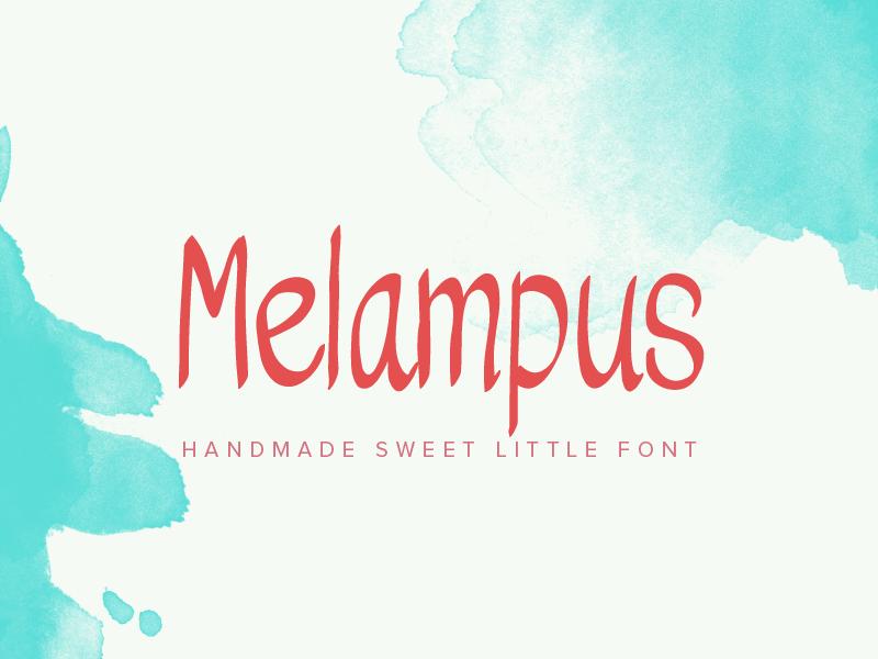 Melampus Font font typeface handwriting lettering comic elegant simple sans serif invitation wedding poster display