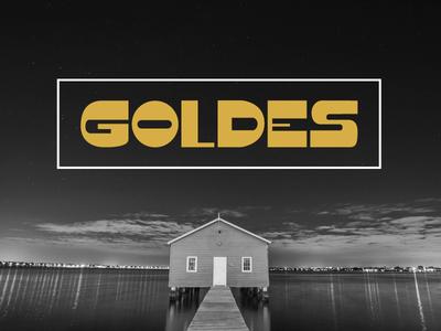 Goldes Font typeface font display headline bold vintage typedesign typography graphic