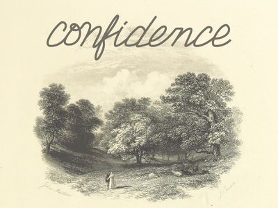 Confidence - Hand Lettering lettering hand lettering practice script line draw free hand