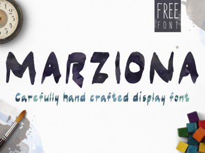 Marziona Free Font typeface typography display font brush font free freebie free font elegant handmade fonts
