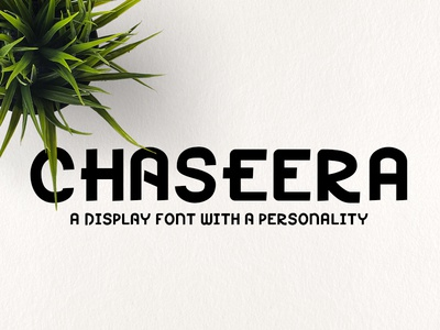 Chaseera Font personality geometry cute minimal vintage handmade typography typeface display font dispplay font