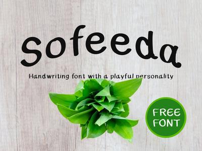 Sofeeda Free Font freefont typography typeface design type handwriting handmade handdrawn freebie free elegant display