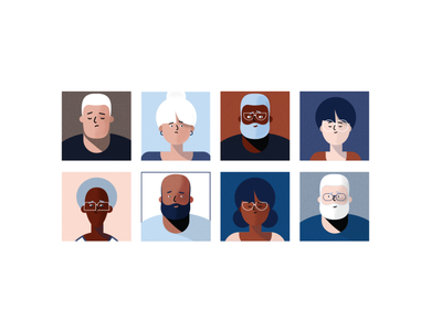Character Study vector character creative direction color illustration simple design