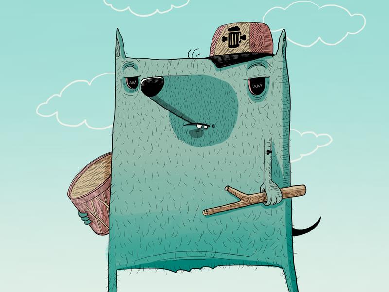 Danny The Dog ux color palette ui sketching illustration drawing design trends design character design animation
