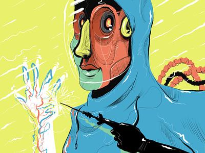 Self Repair ux ui sketching illustration drawing design trends design color palette character design animation