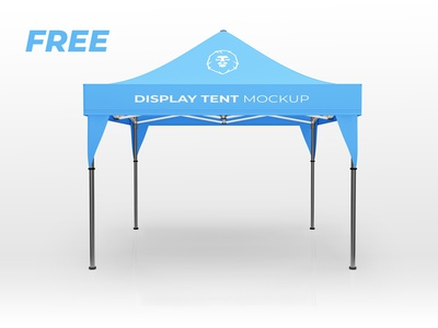 FREE DISPLAY TENT MOCKUP V2 pavilion pattern party outside outdoor new mockup marquee leisure gazebo garden frame fold exibition display design canopy business best awning