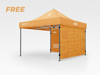 FREE DISPLAY TENT MOCKUP V1 pavilion pattern party outside outdoor new mockup marquee leisure gazebo garden frame fold exibition display design canopy business best awning